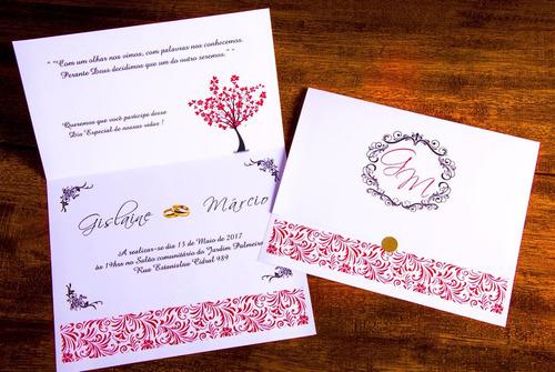 Imagem 1 de 7 de 100 Convite Casamento, Bodas De Ouro + 160 Individuais