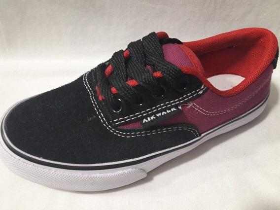 Zapatillas Airwalk Junior Negra Ciruela Rojo Liquidación