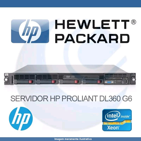 Servidor Hp Proliant Dl360 G6 26gb 2proc 2xhd146- 504635-201