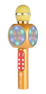 Microfono Karaoke Con Luces Led Con Bocina Bluetooth