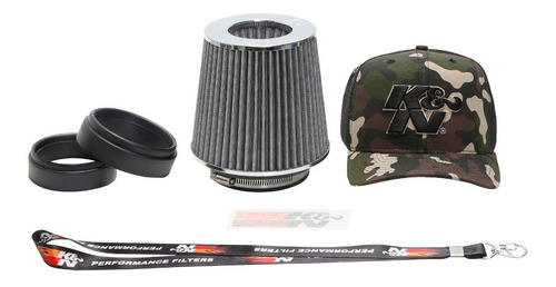 Filtro Ar K&n Duplofluxo Ajustavel Rg-1001wt Chaveiro Brinde