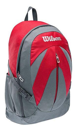 Backpack Deportiva Wilson Rojo Tela Plastico Dama J19609 Udt