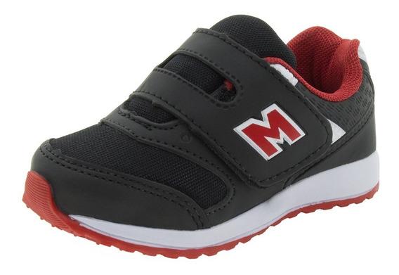 Tênis Infantil Masculino Preto/vermelho Minipé - Mp1617