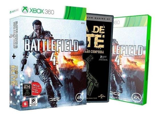 Battlefield 4 + Filme Tropa De Elite Xbox 360 Mídia Física