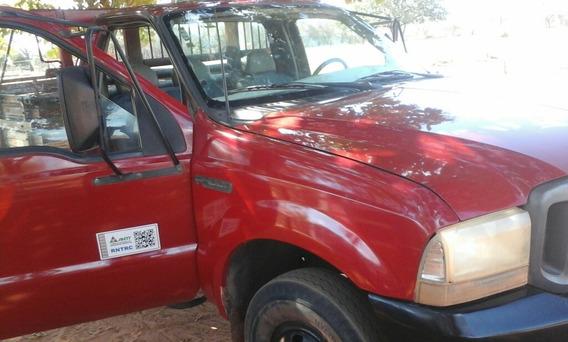 Ford F4000 Vermelha Carroceria De Madeira