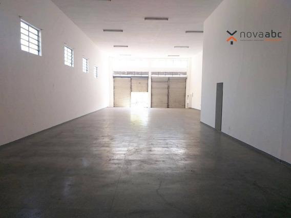Salão Com Energia Trifásica Para Alugar, 350 M² Por R$ 5.000/mês - Jardim Ana Maria - Santo André/sp - Sl0096