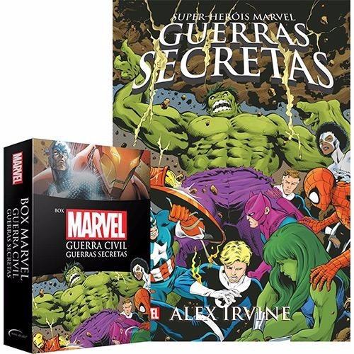 Box Livros Marvel Guerra Civil, Guerras Secretas + Pôster #