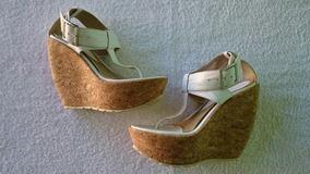 Sandalia Plataforma Anabela Cortica Dzzatos