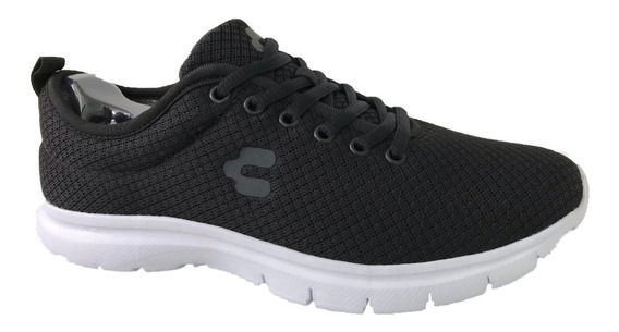 Tenis Charly 1029358 Hombre Casual Negro Textil Deportivo