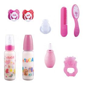 Kit Bebê Menina 2 / Kit Chupeta,mamadeira,acessórios