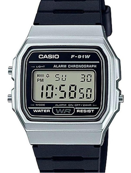 Relógio Casio Unissex Vintage Digital F-91wm-7adf-br