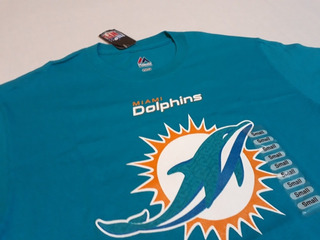 Remera Dolphins Nfl Majestic Talle S #