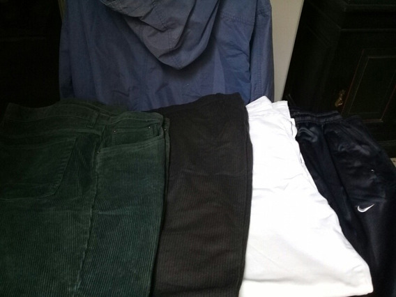 Lote De 4 Pantalones Y Una Campera De Lluvia Usado En B Est.