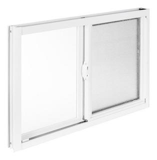 Ventana De Aluminio Para Baño 40x60cm Translucido