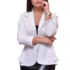 430d3f7d71 8 Casacos Casaco Casaquinho Blazer (branco) Com Mangas 7 - Blazer ...