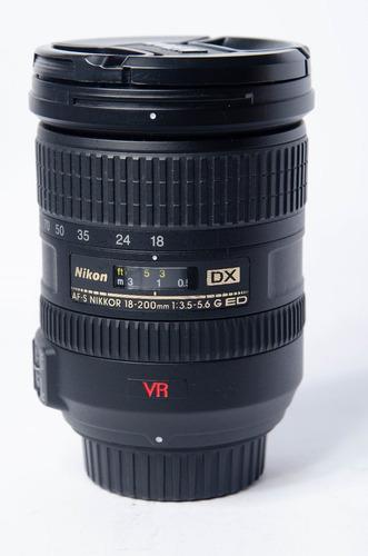 Lente Nikon 18-200 Vr I  Dx D7000 - D7500 D3000 - D3500