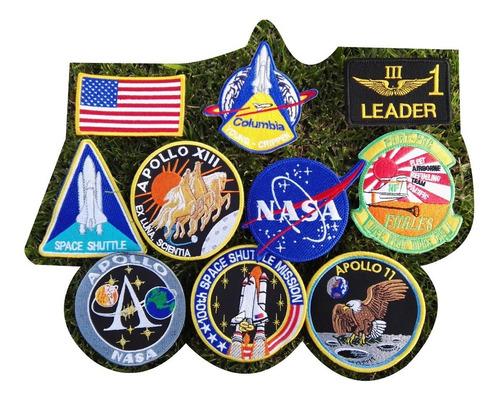 Parches Y Apliques Bordados Nasa Transbordador Apollo Usa