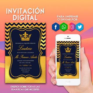 Tarjeta Invitacion Rey En Mercado Libre Argentina