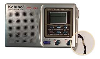 Radio Portatil Am Fm Kchibo Kk-9 Con Auriculares