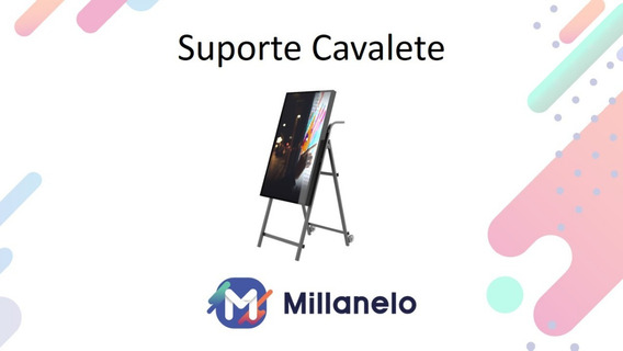 Suporte Cavalete Expositor Para Monitor Tv Stand Alone