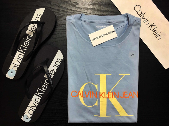 Playera Calvin Klein Classic Blue Orange Original