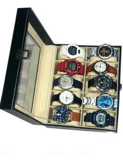 Caja Organizadora En Cuero 10 Relojes