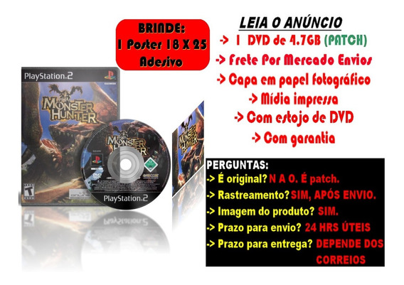 Monster Hunter Para Ps2 + Brinde