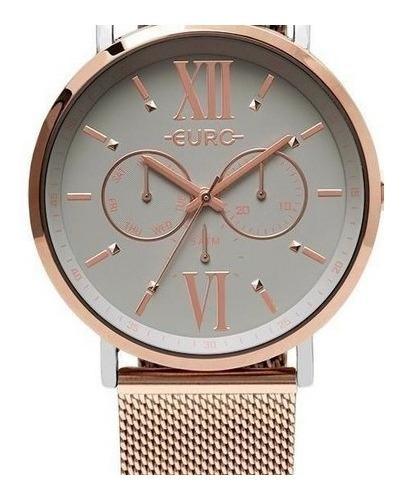 Relógio Euro Rose Misto Analógico/multifunção Feminino