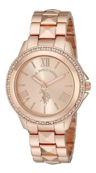 Reloj Mujer Dama Us Polo Usc40078 Rosa O Dorado Original