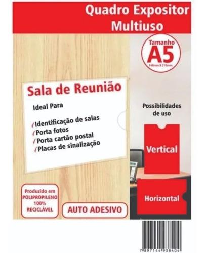 10 Display Porta Folha A5 Pp  De Parede + Dupla Face 15x21cm