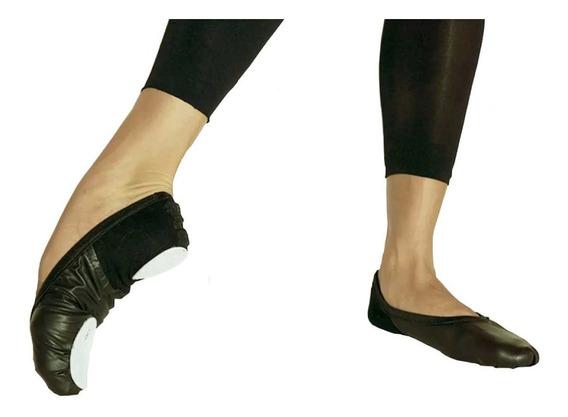 Zapatillas De Danza Media Punta De Cuero