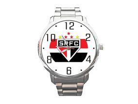Relógio Spfc São Paulo Tricolor Futebol Bola Top +vendido