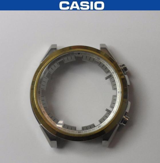 Caixa Completa Com Vidro E Botões Casio Ef-556 Original