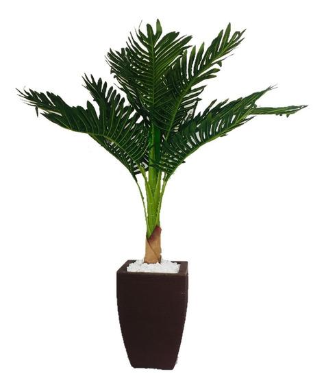 Planta Artificial Palmeira Com Vaso Em Polietileno