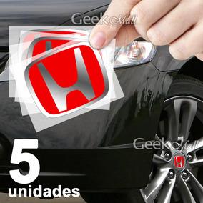 5 Adesivos Emblema Calotinha Tampa Roda Honda Type R Civic
