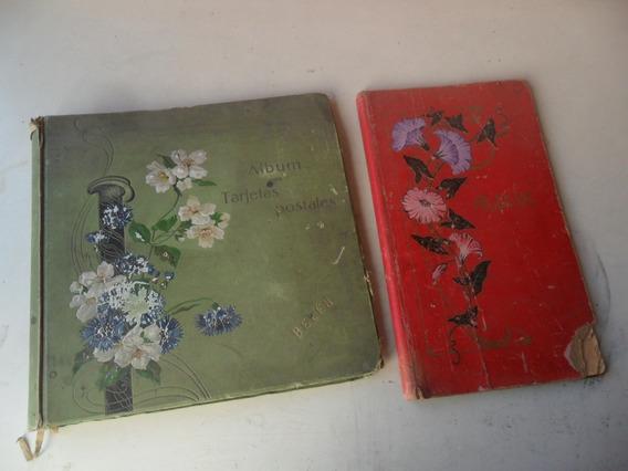 Lote 2 Album Postal Vacio Art Nouveau Antiguo 1909 Foto
