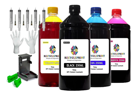 Kit Tinta Bulk Ink Cartuchos Hp 2676 D110 F4280 F4480 C4680