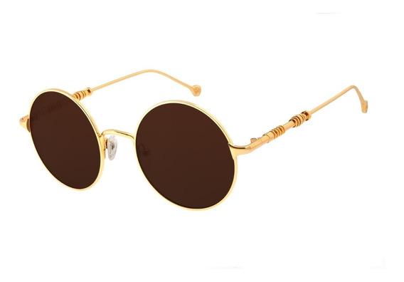 Óculos De Sol Unissex Star Wars C-3po Banhado A Ouro Degradê