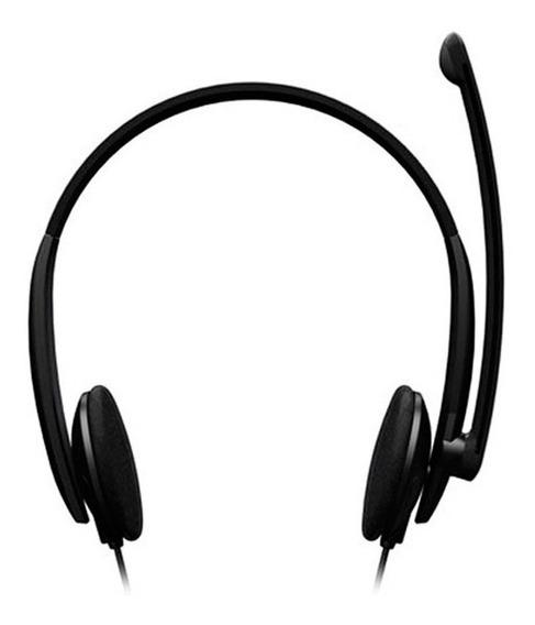 Audifonos Microsoft Lifechat Lx 1000 Negros Tienda Fisica