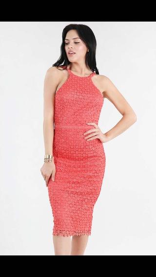 Vestido 3/4 Coral