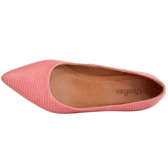 Sapato Usaflex Bico Fino Couro 6601