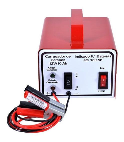 Carregador Baterias Carro Moto Lento Rápido 12v 10ah 220v