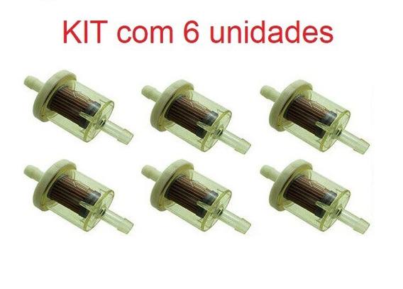 6 X Filtros Combustível Gasolina Kart Moto Gerador Mini Bugs