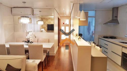 Apartamento Com 3 Dormitórios À Venda, 85 M² Por R$ 550.000 - Campestre - Santo André/sp - Ap0250