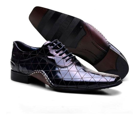 Sapato Social Masculino Calvest Texturizado Moderno