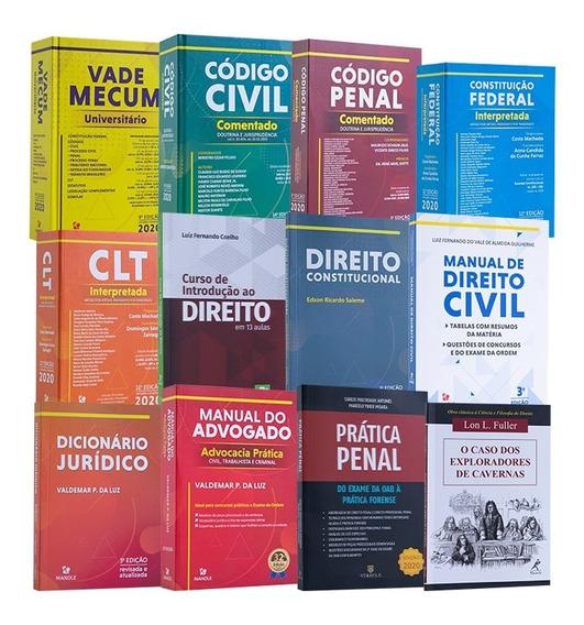 Kit Atualizado Com 12 Livros De Direito, Coleção Completa.
