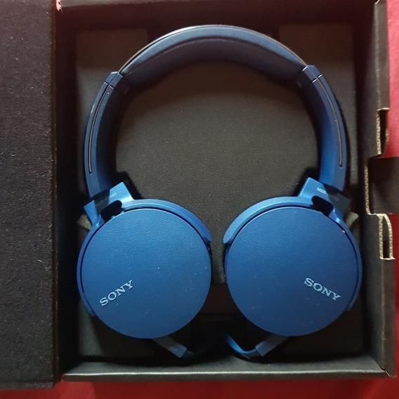 Fone De Ouvido Sony Headphone Extra Bass Xb550-ap Azul