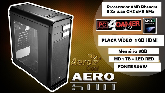 Computador Gamer Amd 3.20ghz 8gb Ram Placa Video Hdmi Hd 1tb