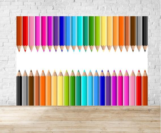 Fundo Fotográfico Em Tecido Escola Lapis Colorido - Esc05