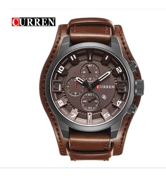 Relógio Curren 8225 Social Masculino Original Couro